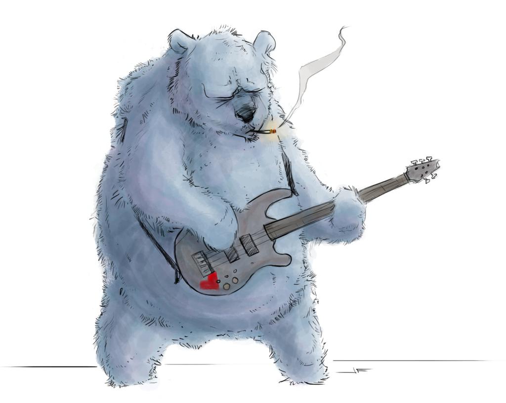 Медведь поет смешные картинки